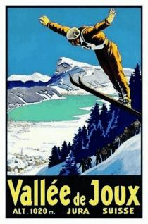 Nostalgie: Vallée de Joux (Jura/Schweiz) Blechschild 20x30 cm