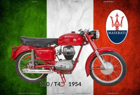 Maserati 160 T4 1954 Italien motorrad blechschild