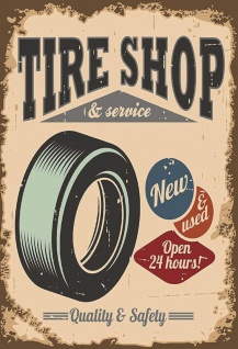 Blechschild Tire Shop & Service Metallschild Wanddeko 20x30 cm tin sign