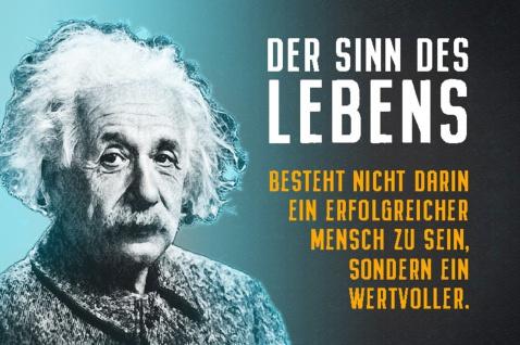 Blechschild Spruch Der Sinn des Lebens A.Einstein Metallschild Wanddeko 20x30 cm tin sign