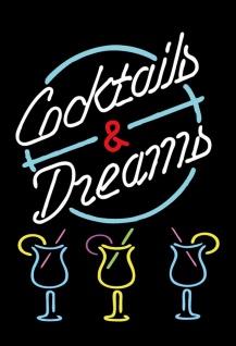 Blechschild Alkohol Cocktails & Dreams Metallschild Wanddeko 20x30 cm tin sign