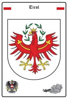 Tirol wappen blechschild