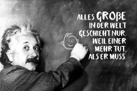 Blechschild Spruch Einstein Alles Große der Welt Metallschild Wanddeko 20x30 cm tin sign