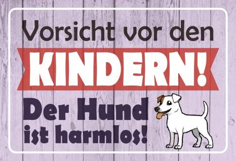 Blechschild Spruch Vorsicht vor den Kindern! Metallschild 20x30 Deko tin sign