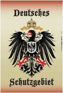 Deutsches Schutzgebiet wappen mit adler, blechschild