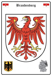 Brandenburg wappen blechschild