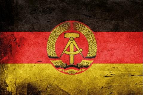 Länder Fahne - DDR Deutsche Demokratische Republik- National Flagge GDR, German Democratic Republic blechschild, dekoschild, retro, Ostalgie