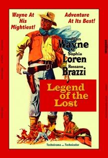 John Wayne Legend of the Lost filmplakat blechschild