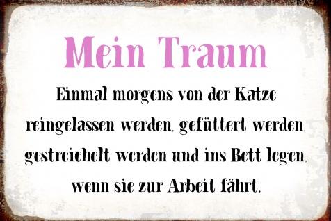 Blechschild Spruch Mein Traum...Metallschild Wanddeko 20x30 cm tin sign