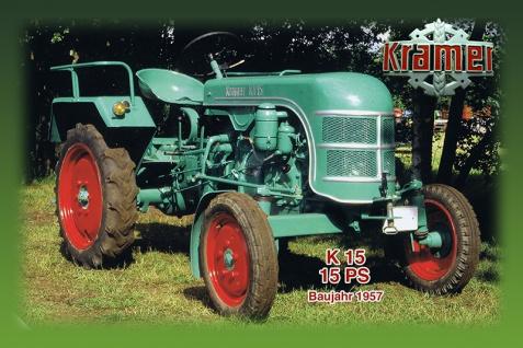 Kramer K15 15PS 1957 tracktor trekker blechschild