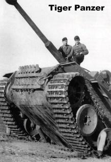 Militär: Tiger Panzer Blechschild 20x30 cm