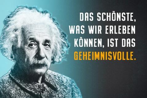 Blechschild Spruch Einstein Das schönste erleben Metallschild Wanddeko 20x30 cm tin sign