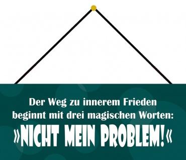Schatzmix Blechschild Der Weg zu innerem Frieden Metallschild Wanddeko 27x10cm mit Kordel