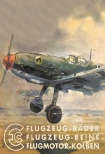 EC Flugzeug-Räder Beine und Kolben luftwaffe wehrmacht nostalgie blechschild