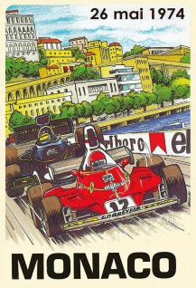 Retro: Monaco 26.Mai.1974 (Formel 1) Metallschild 20x30 Deko tin sign