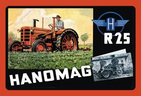 Hanomag R 25 Traktor Trecker Blechschild