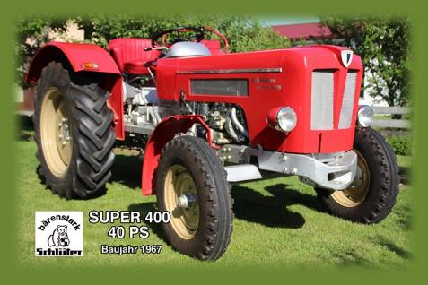 Schlüter Super 400 40Ps 1967 tracktor trekker blechschild