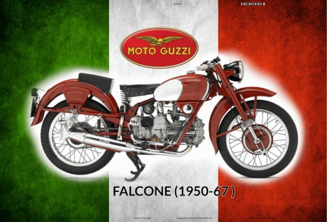 Moto Guzzi Falcone 1950-1967 italien motorrad blechschild