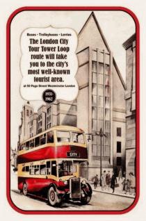 Retro: London City Tour 1931 - 1962 Blechschild 20x30 cm