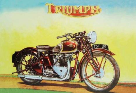 Triumph TST 39 motorrad, motorbike, motorcycle blechschild