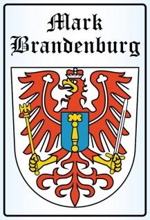 Mark Brandenburg Wappen stadtwappen blechschild