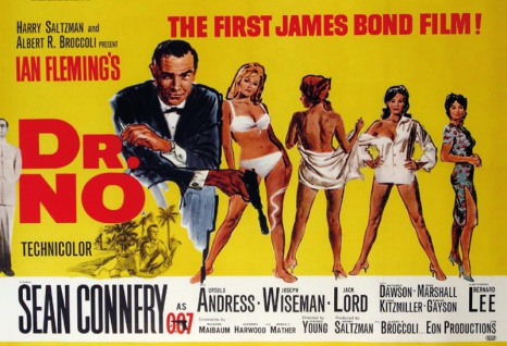 The first James Bond Dr. No Sean Connery filmplakat blechschild