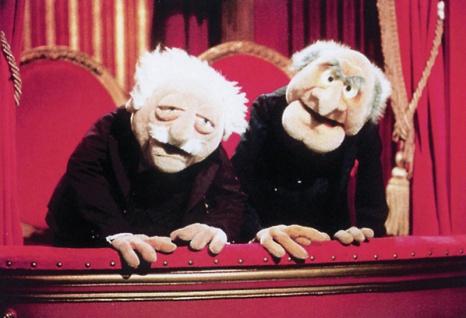 """Waldorf and Statler """" Muppet Show"""" evil grandpa blechschild"""