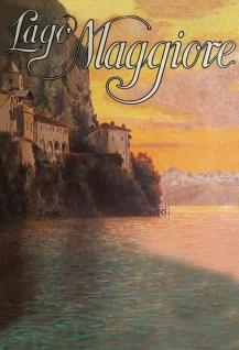 Nostalgie: Lago Maggiore Italy Blechschild 20x30 cm