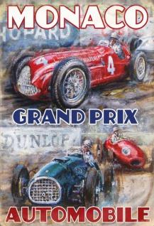 Nostalgie: Grand Prix Monaco Blechschild 20x30 cm