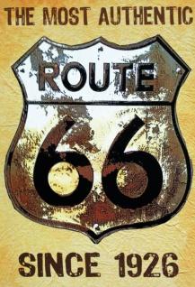 Route 66 since 1926 Blechschild 20x30 cm