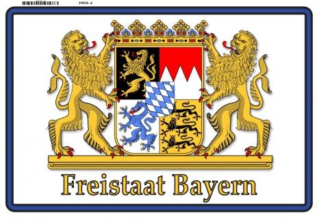 Freistaat Bayen Wappen löwe blechschild