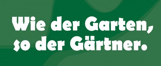 Blechschild Wie der Garten, so der Gärtner Metallschild Wanddeko 27x10 cm tin sign