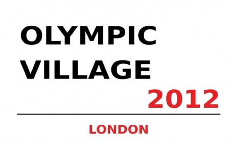 London Street Sign Olympic Village 2012 Blechschild 20x30