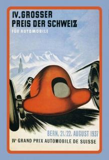 Nostalgie: Großer Preis der Schweiz 1937 Blechschild 20x30 cm