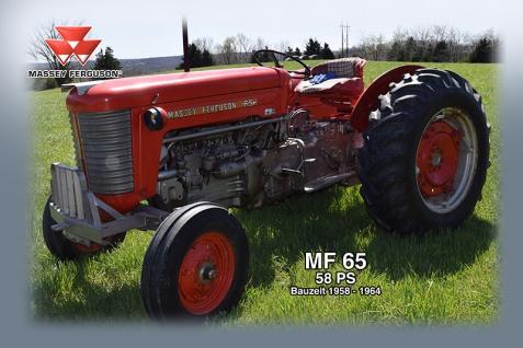 Massey Ferguson MF65 58PS tracktor trekker blechschild