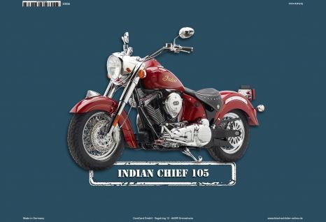 Indian Chief 105 Motorrad Blechschild