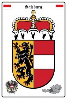 Blechschild Salzburg Wappen Metallschild Wanddeko 20x30 cm tin sign