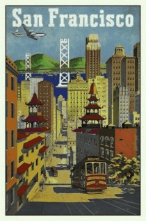 Nostalgie: San Francisco Blechschild 20x30 cm
