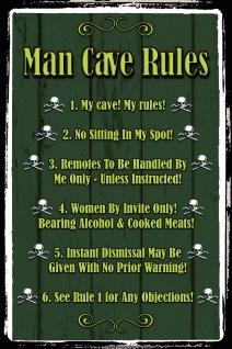 Man cave Rules, männer höhle regeln blechschild