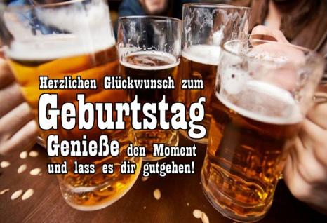 Herzlichen Glückwunsch zum geburtstag bier beer prost cheers blechschild