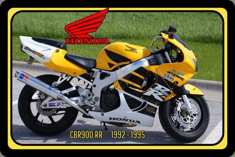 Honda CBR900 RR 1992-1995 124PS motorrad, motor bike, motorcycle blechschild