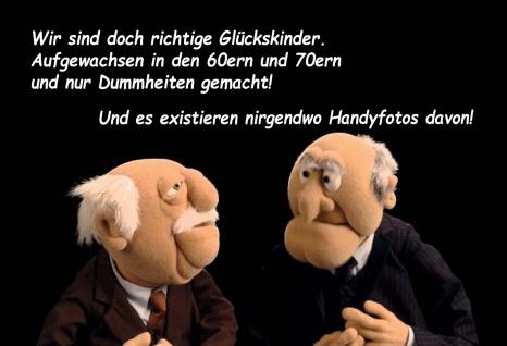 Blechschild Spruch Waldorf & Statler Glückskinder Metallschild 20x30 cm tin sign