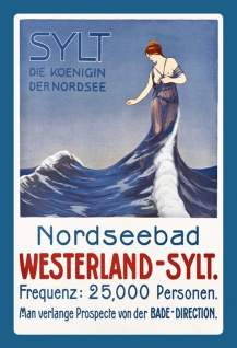 Retro: Sylt die Königin der Nordsee Metallschild Wanddeko 20x30 cm tin sign