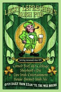 Lucky Leprechaun Irish Pub blechschild