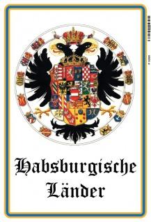 Habsburgische Länder wappen Adler blechschild