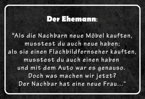 Blechschild Spruch Der Ehemann... Metallschild 20x30 Deko tin sign