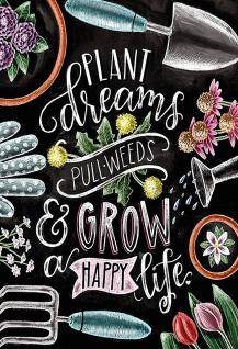 Blechschild Spruch Plant dreams... Metallschild 20x30 Deko tin sign