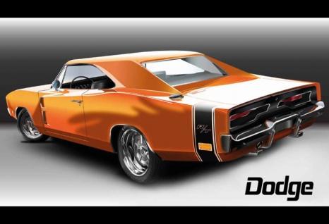 Dodge R/T auto blechschild