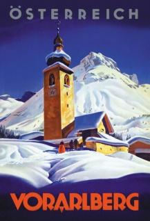 Österreich Voralberg Alpen Blechschild
