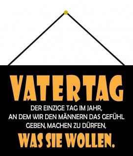Blechschild Spruch Vatertag Metallschild Deko 20x30 tin sign mit Kordel